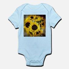 western country yellow sunflower Body Suit