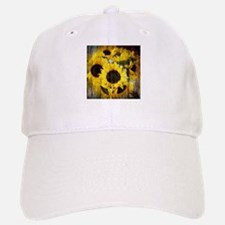 western country yellow sunflower Baseball Baseball Cap
