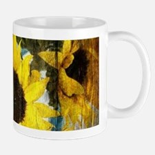 western country yellow sunflower Mugs
