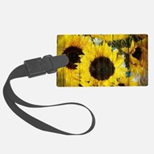 western country yellow sunflower Luggage Tag