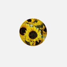 western country yellow sunf Mini Button (100 pack)