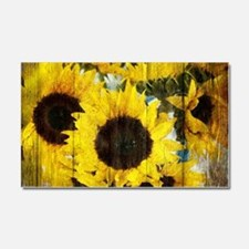 western country yellow sunflowe Car Magnet 20 x 12