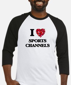 I love Sports Channels Baseball Jersey
