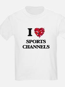 I love Sports Channels T-Shirt
