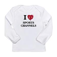 I love Sports Channels Long Sleeve T-Shirt