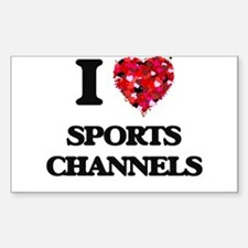 I love Sports Channels Decal