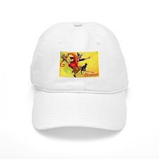 Halloween Witch on Broom Baseball Baseball Cap
