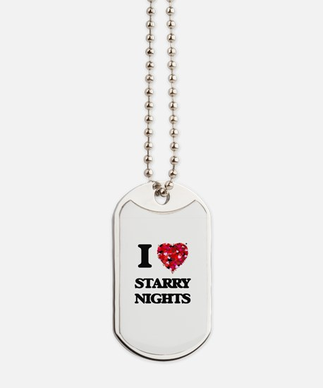I love Starry Nights Dog Tags