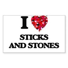 I love Sticks And Stones Decal