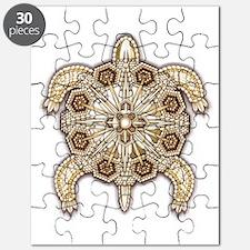 White Native Beadwork Turtle Puzzle