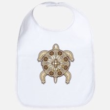 White Native Beadwork Turtle Bib