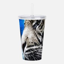 starring night white t Acrylic Double-wall Tumbler