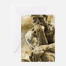 Impressionism sculpture The Thinker Greeting Cards