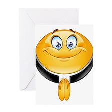 priest emoji Greeting Cards