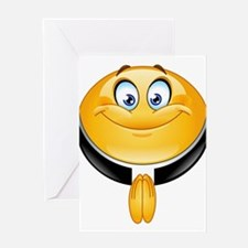 priest emoji Greeting Cards
