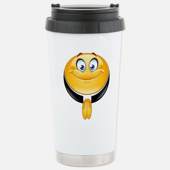priest emoji Stainless Steel Travel Mug