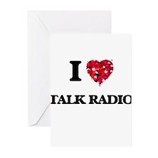 I love Talk Radio Greeting Cards