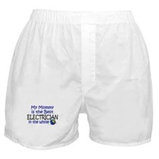 Best Electrician In The World (Mommy) Boxer Shorts