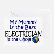 Best Electrician In The World (Mommy) Greeting Car