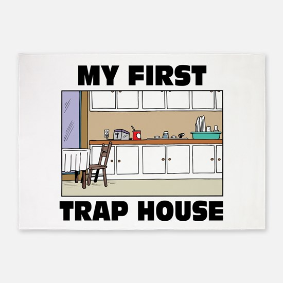 My First Trap house 5'x7'Area Rug