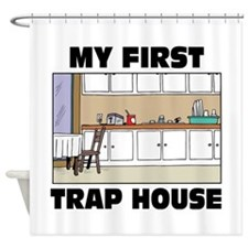 My First Trap house Shower Curtain