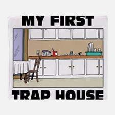 My First Trap house Throw Blanket