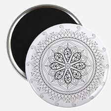 Mandala Black Magnet