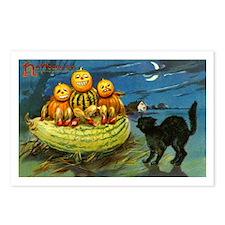 Black Cat & Pumpkins Postcards (Package of 8)