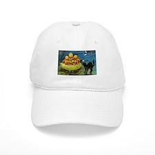 Black Cat & Pumpkins Baseball Cap