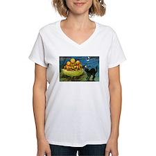 Black Cat & Pumpkins (Front) Shirt