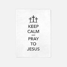 Keep Calm Pray 5'x7'Area Rug