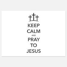Keep Calm Pray Invitations