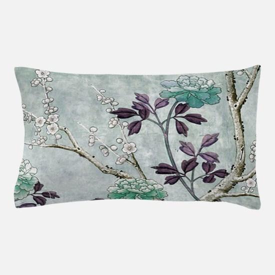 Asian Flowers Pillow Case
