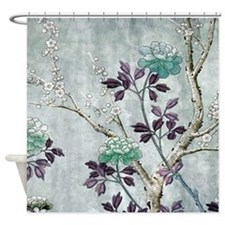 Asian Flowers Shower Curtain
