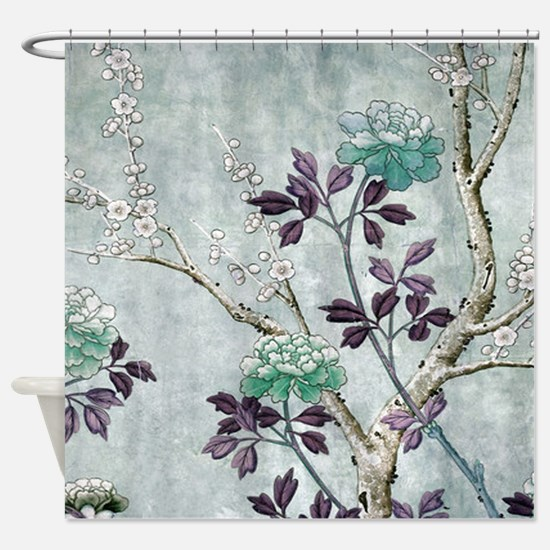 Asian Flowers Shower Curtain