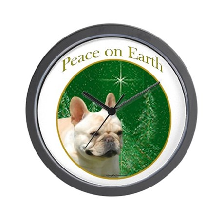 Frenchie Peace Wall Clock