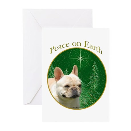 Frenchie Peace Greeting Cards (Pk of 20)