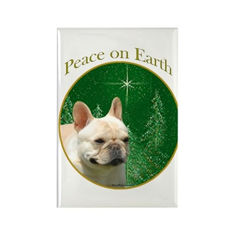 Frenchie Peace Rectangle Magnet