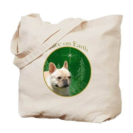 Frenchie Peace Tote Bag