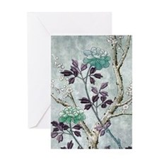Asian Flowers Greeting Cards