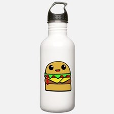 kawaii cheeseburger Water Bottle