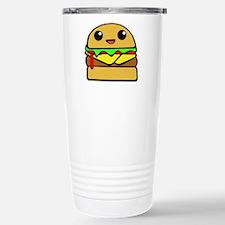 kawaii cheeseburger Stainless Steel Travel Mug