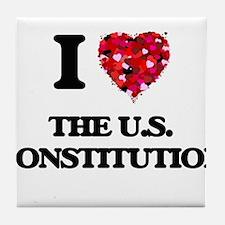 I love The U.S. Constitution Tile Coaster