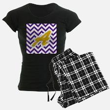 Purple Chevron Dark Gold A Pajamas