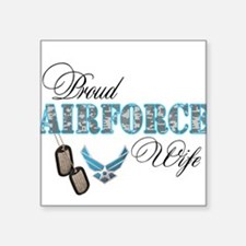 "Cute Air force wife Square Sticker 3"" x 3"""