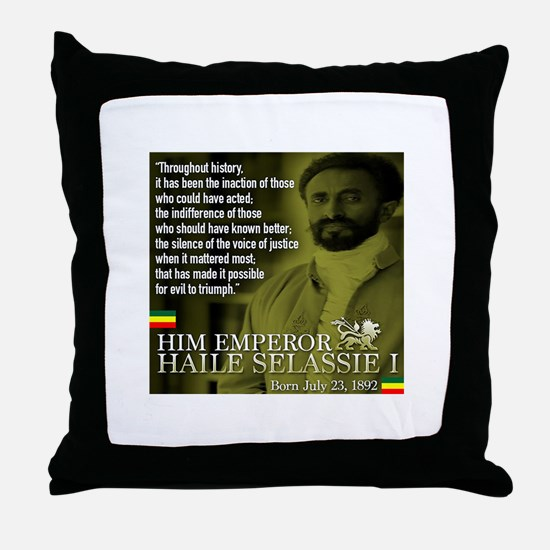 HIM Emperor Haile Selassie I Throw Pillow