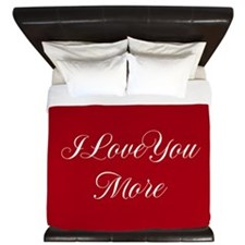 I Love You More King Duvet