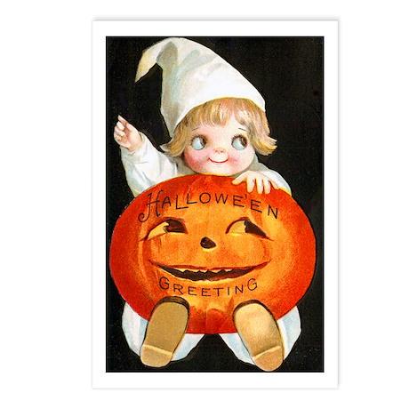 Halloween Greetings Pumpkin Postcards (Package of