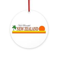 Visit Beautiful New Zealand Ornament (Round)