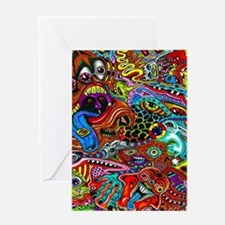 Abstract Painting Greeting Cards
